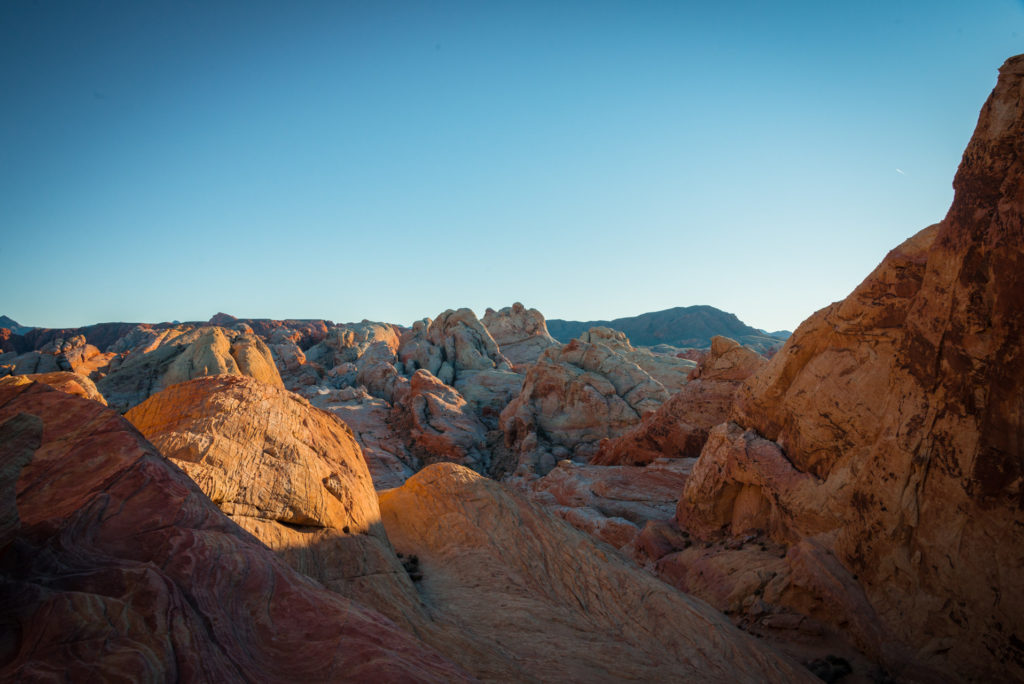 landscape with red rocks at valley of fire state park in nevada, photographed by jamie bannon photography.