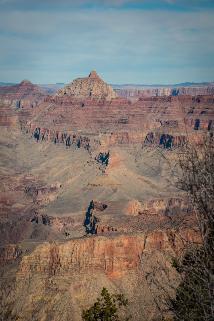grand canyon landscape with blue sky overhead, photographed by jamie bannon photography.