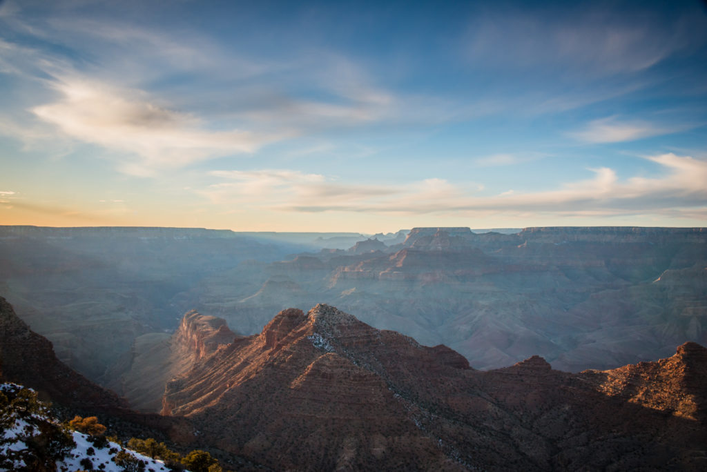 landscape with sunset over the grand canyon in arizona, photographed by jamie bannon photography.